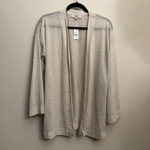 LOFT Lightweight Tan Open Cardigan